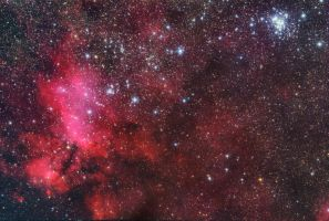 The Prawn Nebula and Northern Jewel Box by turbulentvortex