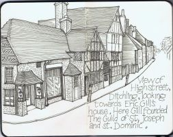 Ditchling High Street by Golgonooza