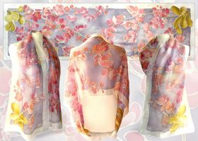 Orchid scarf - FOR SALE by MinkuLul