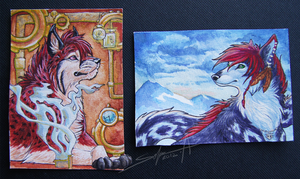 ACEO's of May by TransparentGhost