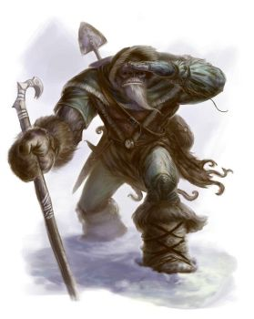Half Orc Mountain Wanderer by ScottPurdy