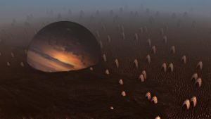 A PLANET TRAPPED ON ANOTHER PLANET by Topas2012