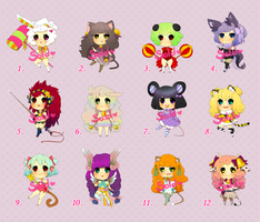 Adoptables batch[AUCTION OPEN] by Miharuruu