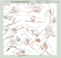 +DRAWING PRACTICE - BFF HANDS+ by goku-no-baka