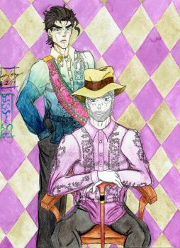 Portrait of Don Jose Joestar and His Grandson by Riazana