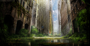 Overgrown City v2 by Aeflus