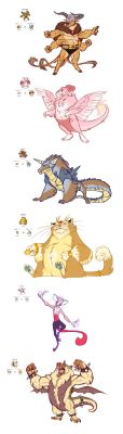 Pokemon Fusions Sketchdump by Earthsong9405