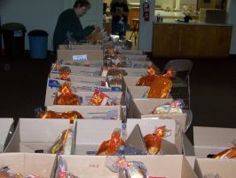 Holiday Baskets From the Food Pantry by WhiteDove-Creations