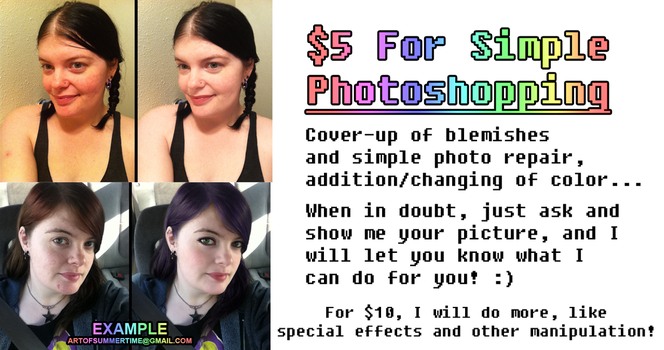 $5 - $10 Photo Editing by ArtOfSummertime
