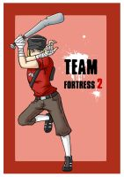 TF2- The red Scout by ShiroiAngelz