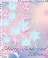 Shiney snow and Ribbons Brushe by Coby17