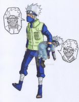 poor kakashi by alpha89