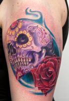 calavera and rose by graynd