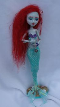 monster high repaint MERMAID lagoona blue3 commish by phairee004