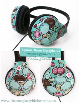 Squirtle Headphones by PeterPan-Syndrome