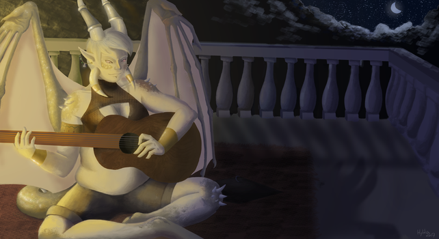 [Dig] Guitar in the night by hylidia