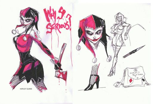 Nolan BATVERSE doodles Harley by Hodges-Art