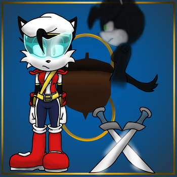 Rebirth: Hershey the cat as Commander Haste by goldtaills