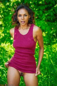 Merrique Red Tank Dress by Mac--Photo