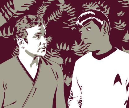 TOSART: Kirk and Spock 1 by moiramurphy