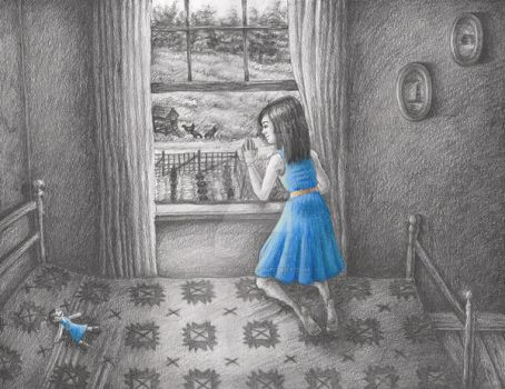 Girl Looking Out Window by Chimera-Fox