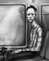mime on a train by cryoclaire
