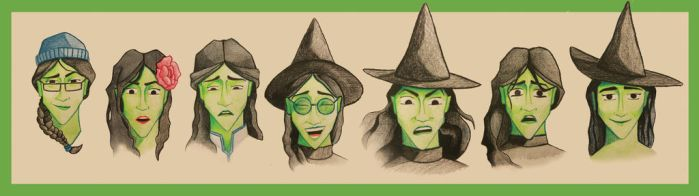 Elphaba Cartooned by MarioGasca