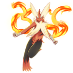 PokeCollab Mega Blaziken by UmbreonGal