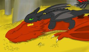 Smaug and Toothless by Hylozoistic
