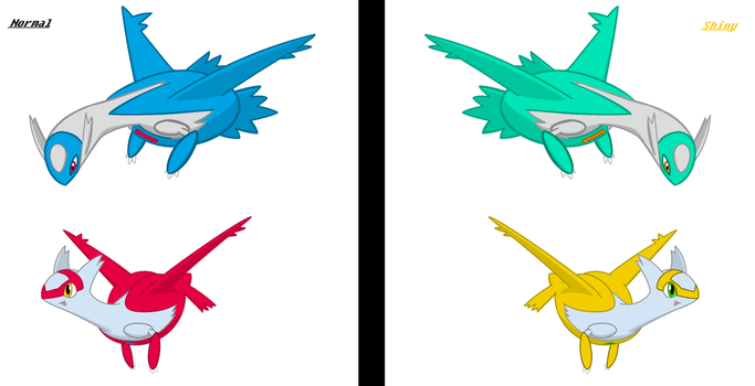 MS Paint: Latias and Latios by Poke-Sonic-ZillaSaur