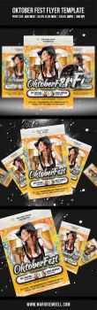 Oktober Fest Flyer Template by MarioGembell