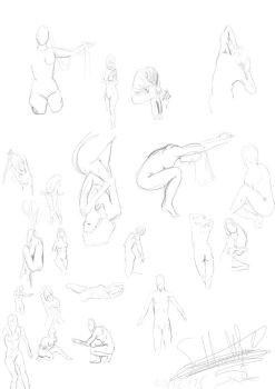 life drawing practice 2 by butt-4-brains