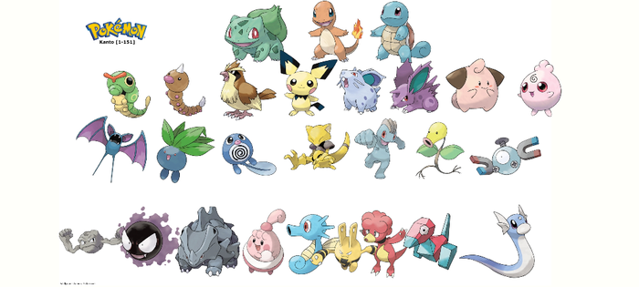 Pokemon: 3-Stage Evolutions - Kanto: First Stage by quintonshark8713