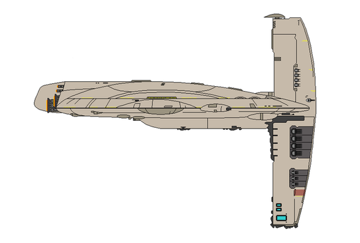 Star Wars MC140 Scythe-class main battle cruiser by Seeras