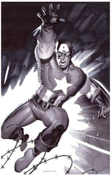 Captain America- Marker Illo by ChristopherStevens