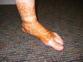 My Henna Foot by Nomandy
