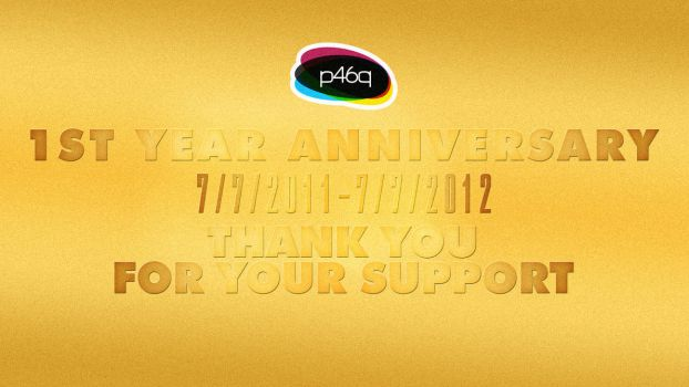 1ST YEAR ANNIVERSARY PANOS46PNS STICKERS by panos46