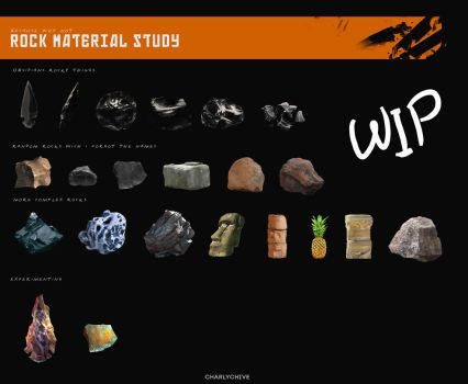 Rock Material Study 01 by CharlyChive