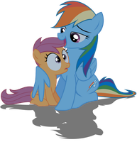 Rainbow Dash and Scootaloo by Multimagyar