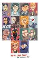 Metal Gear Solid cast by cigar-blues