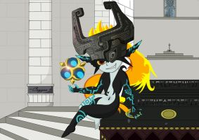 Midna at the Temple of Time by Cryzeu