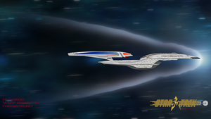 Enterprise F at warp by trav3000