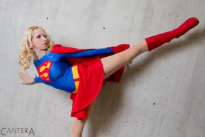 Supergirl kick by CanteraImage