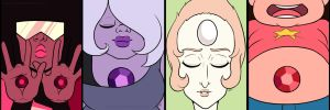 Garnet Amethyst and Pearl AND STEVEN! by Ayayue