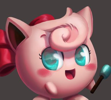 One face a day #13/365 Jigglypuff (pokemon) by Dylean