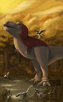 Feathered T.rex is always right by UmbreoNoctie