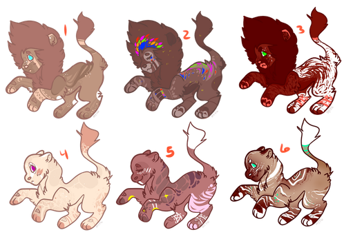 LION ADOPTS {6/6 OPEN } by ayethatsprettygood