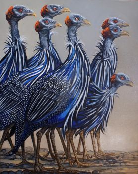 Marauding Guinea Fowl by HouseofChabrier