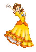 Collab : Princess Daisy by ValKrayon