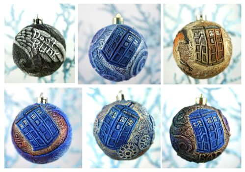 Doctor Who ornaments by hontor